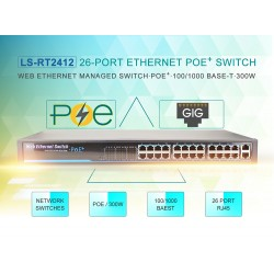 SWITCH WITH 24-PORT POE (LS-RT2412)